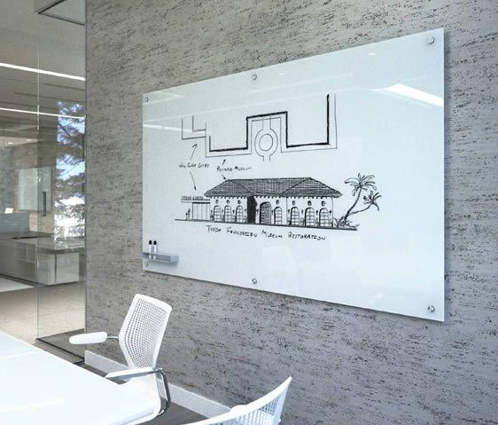 Black Modern Glass Board Office Furniture Layout Glass Dry