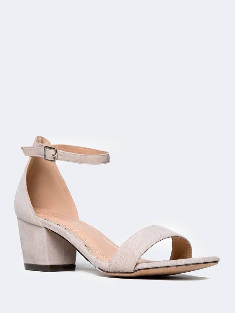 Amazon.com | J. Adams Daisy Mid Heel Sandal, Dusty Rose