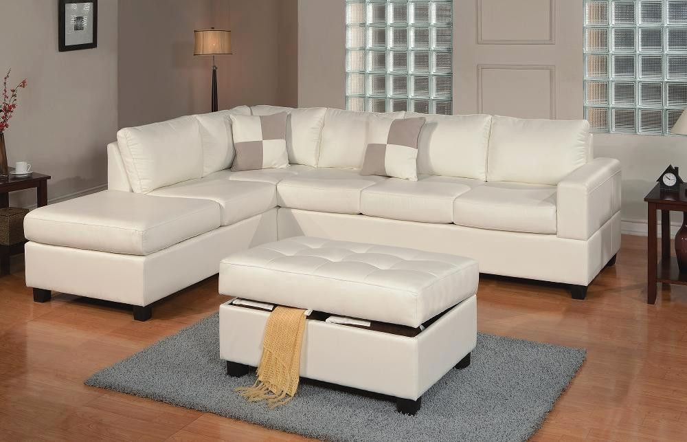 Langton Chaise Sofa In White With