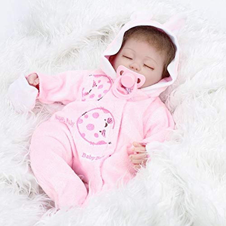 "Lifelike Handmade 16/"" Reborn Baby Girl Doll Newborn Kid Gifts Vinyl Silicone Toy"