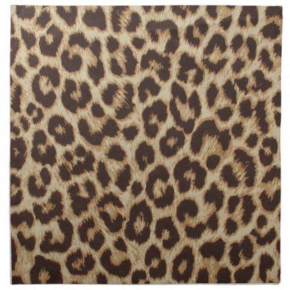 Leopard Print Cloth Napkin Set Kitchen Gifts Diy Ideas Decor Special Unique Individual Customized
