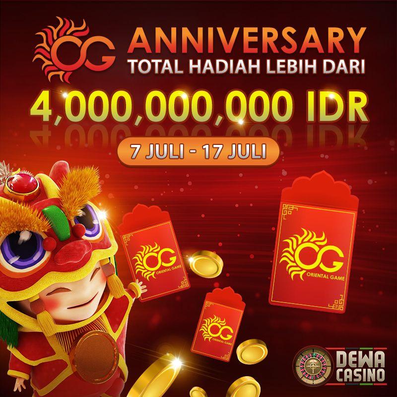 Og Casino Anniversary Bersama Dewacasino Mainan Hadiah Game