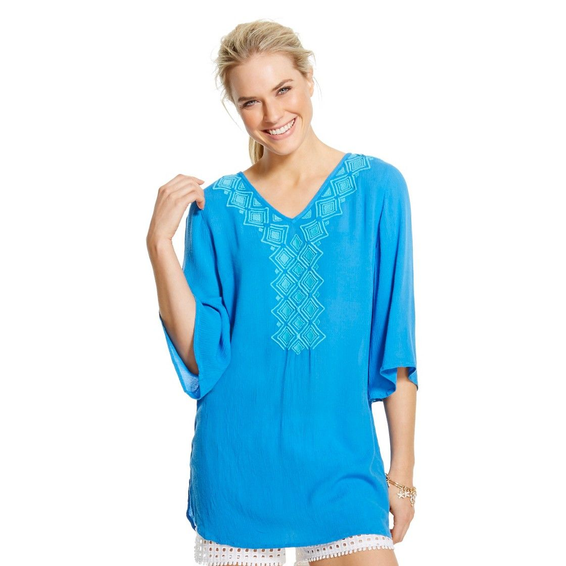 b22bc456abe Lilly Pulitzer for Target Women's Embroidered Tunic - Blue Bell $30 ...