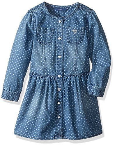 bd844e29e GUESS Little Girls Star Print Denim Dress Aster Wash 2 * Want additional  info? Click on the image(It is Amazon affiliate link). #fslc
