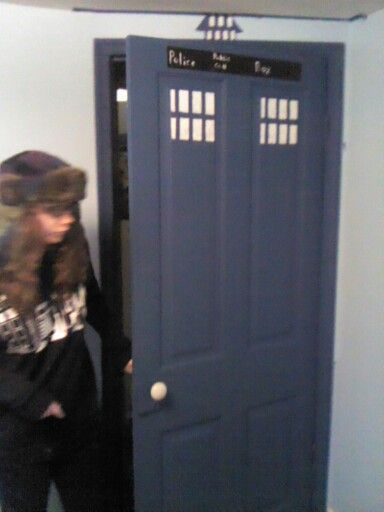 Megan's room redo cool sister :-) wearing doctor who sweater :-)