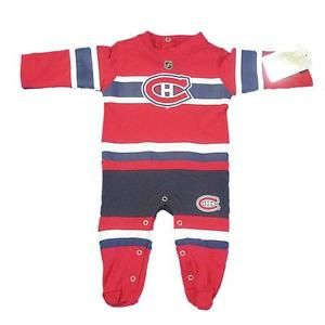 new style 51c12 35d78 New NHL Official Montreal Canadiens Infant Sleeper Onesie ...