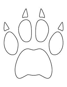 Image Result For Simple Bobcat Template Paw Print Art