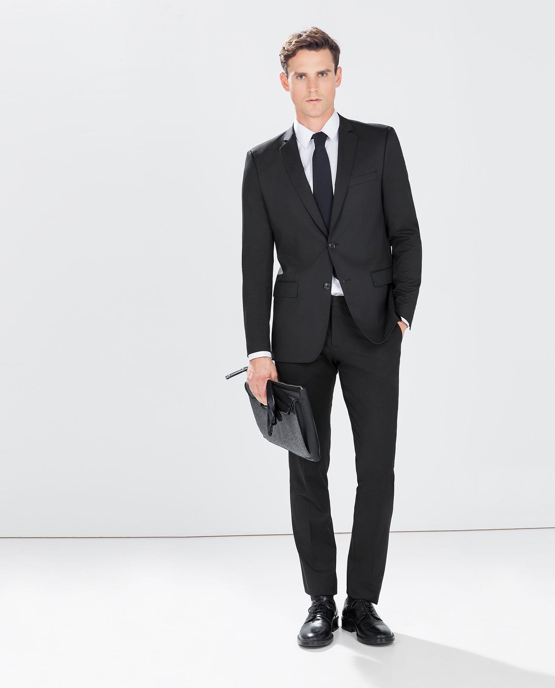 d2decdb405d7 ZARA - HOMBRE - TRAJE BASICO NEGRO | Moda | Zara hombre traje ...