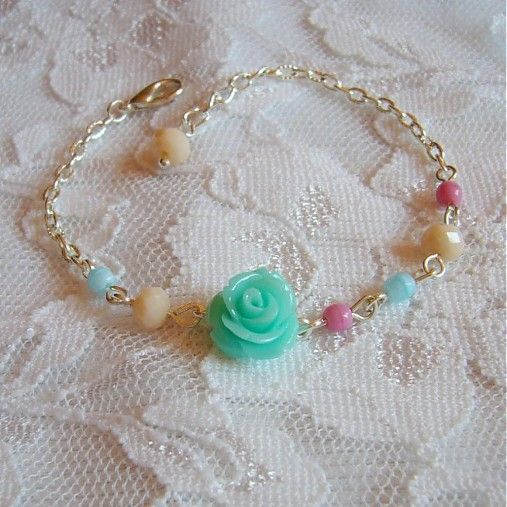 invisiblegarden / Lightness 3 náramok #bracelet #naramok #mint