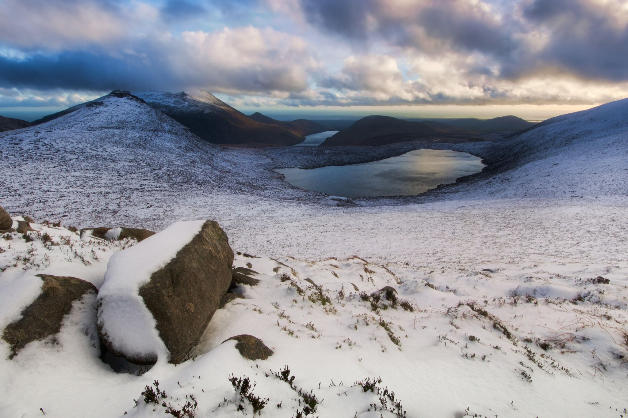 The Mournes In Winter Irland