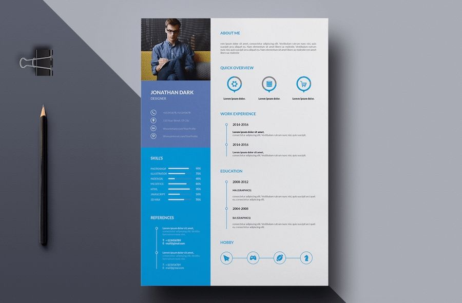 65 Professional Cv Templates For Ms Word That Look Like Free Resume Template Word Cv Design Template Cv Words