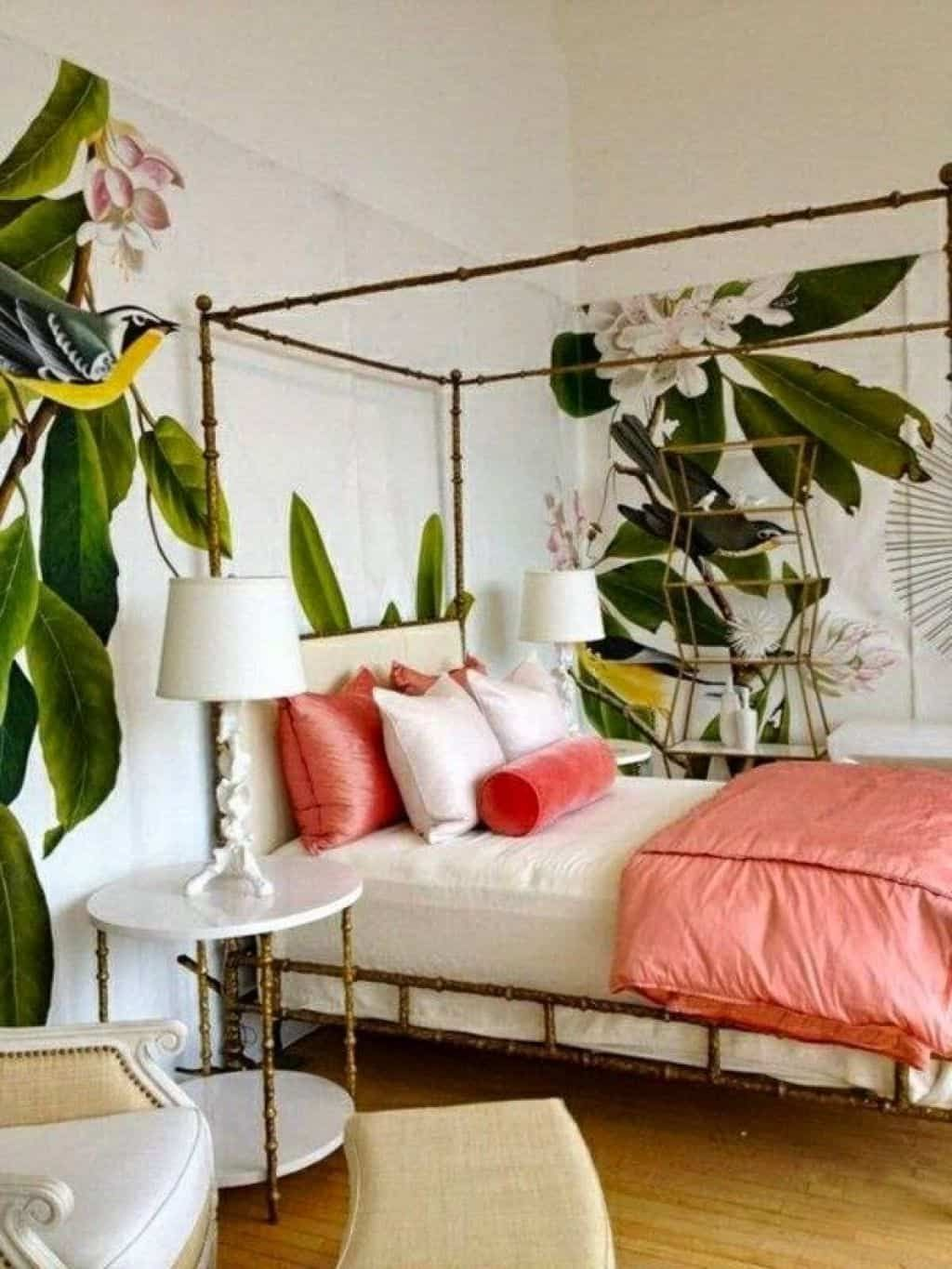 Making A Paradise With Tropical Bedroom Theme Tropical Bedroom