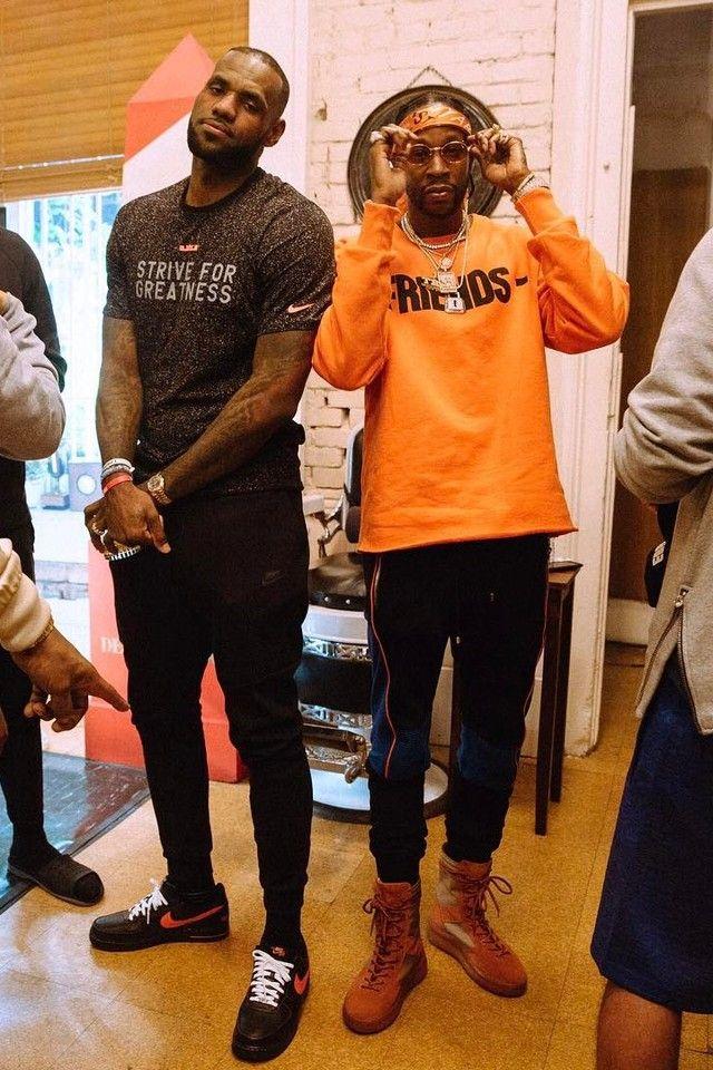 ef8c8d16 LeBron James wearing Nike V Lone Air Force One, Nike Nike Dry Lebron
