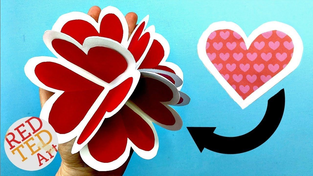 3d pop up heart card diy alternative explosion card