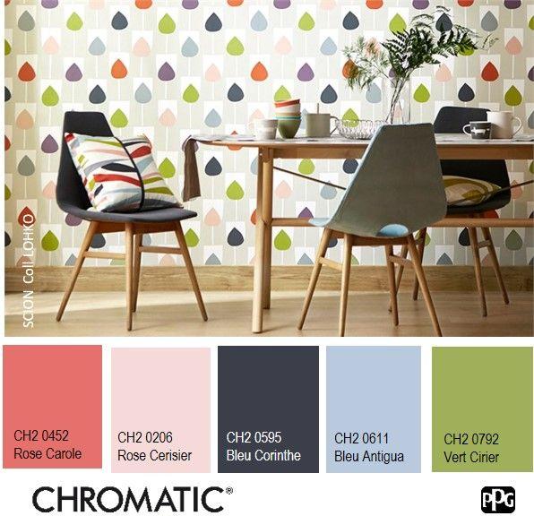 ambiance ludique les motifs et couleurs du papier peint. Black Bedroom Furniture Sets. Home Design Ideas