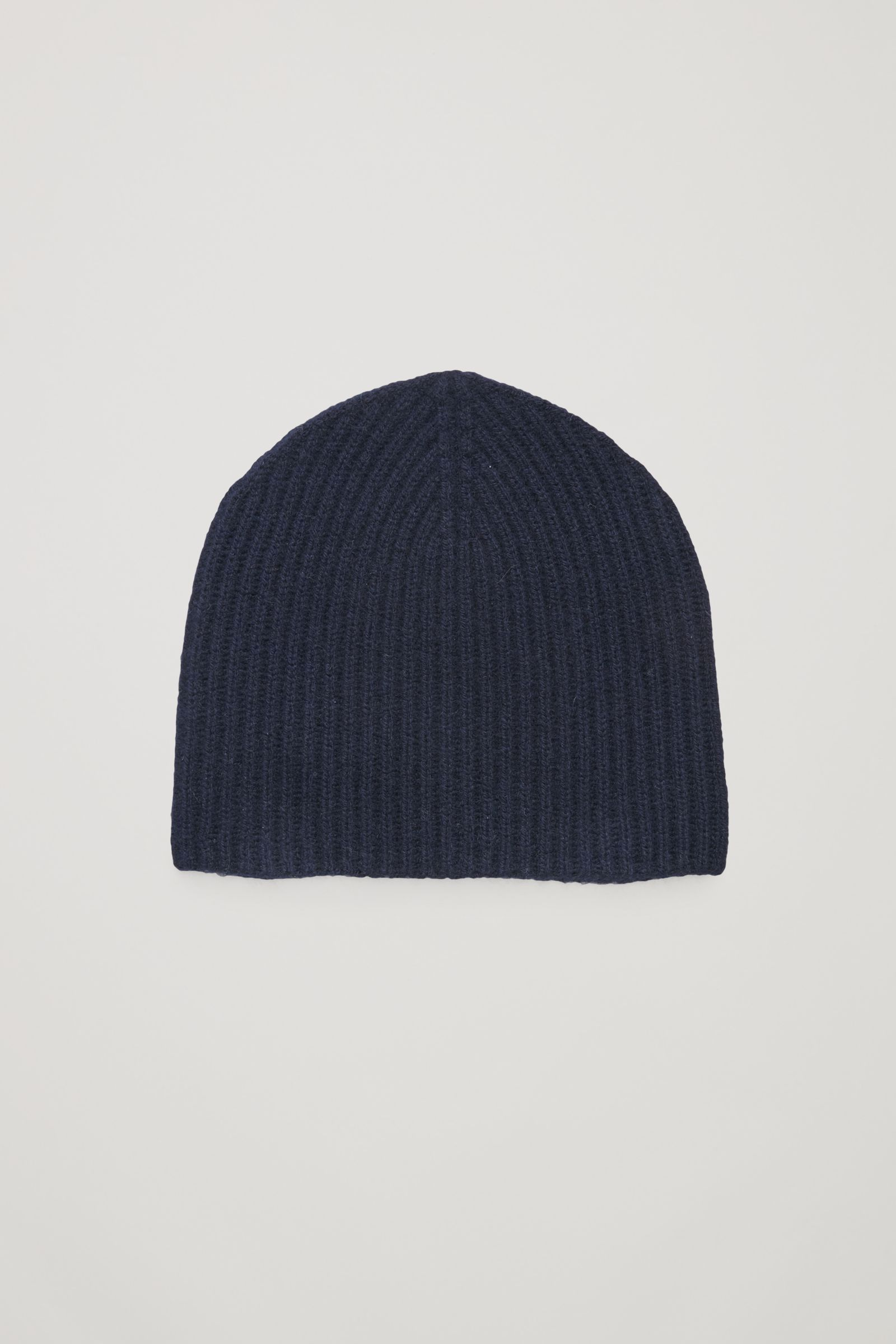 d81d6bd7ee0 COS image 14 of Ribbed cashmere hat in Navy