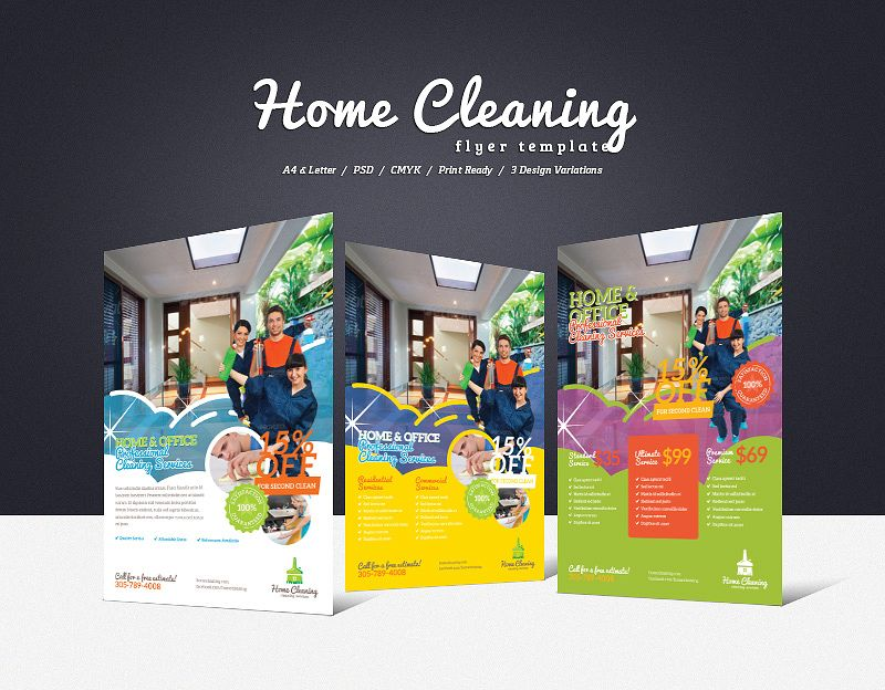 Home Cleaning Flyer Commercial cleaning company, House cleaning - cleaning brochure template