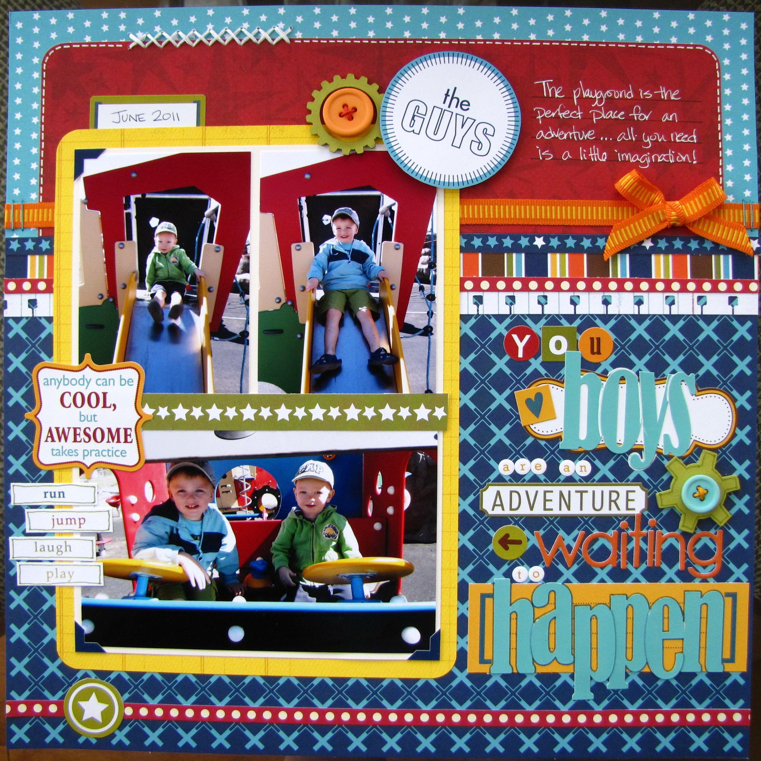 Scrapbook ideas adventure - Great Colors You Boys Are An Adventure Waiting To Happen Scrapbook Com
