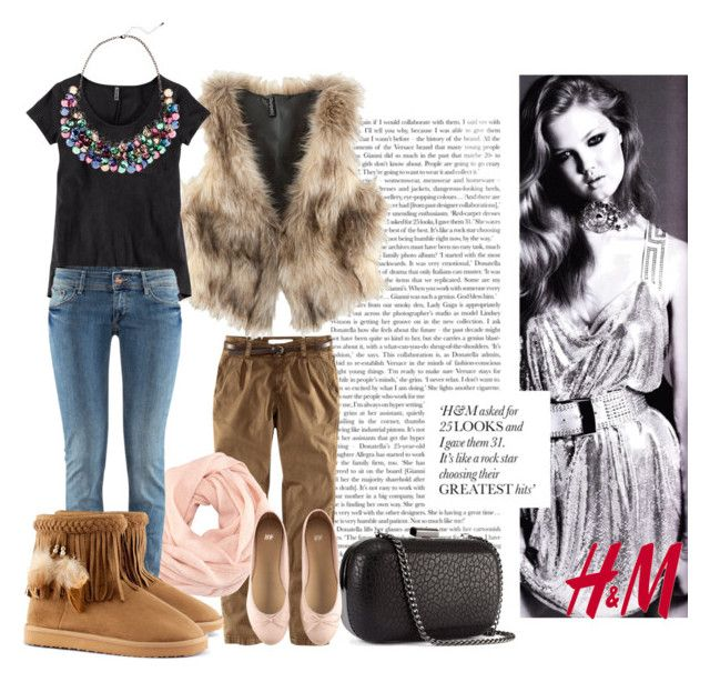"""""""Still trendy at winter! H&M"""" by juliet222 ❤ liked on Polyvore featuring H&M"""