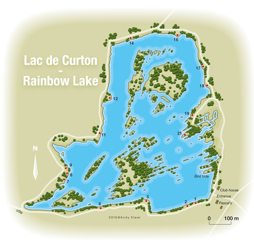 Rainbow Lake Lac de Curton lake plan Angling Knots Pinterest