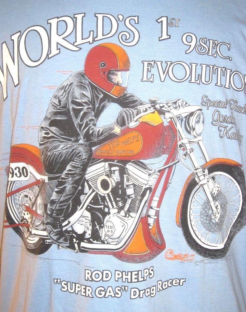 detalles acerca de vintage ted phelps harley-davidson racing team