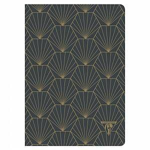 """Carnet de notes Clairefontaine Neo Deco textile A5 96 pages ligné Anthracite """"Shell"""" papier ivoire 90g – Lot   – Products"""