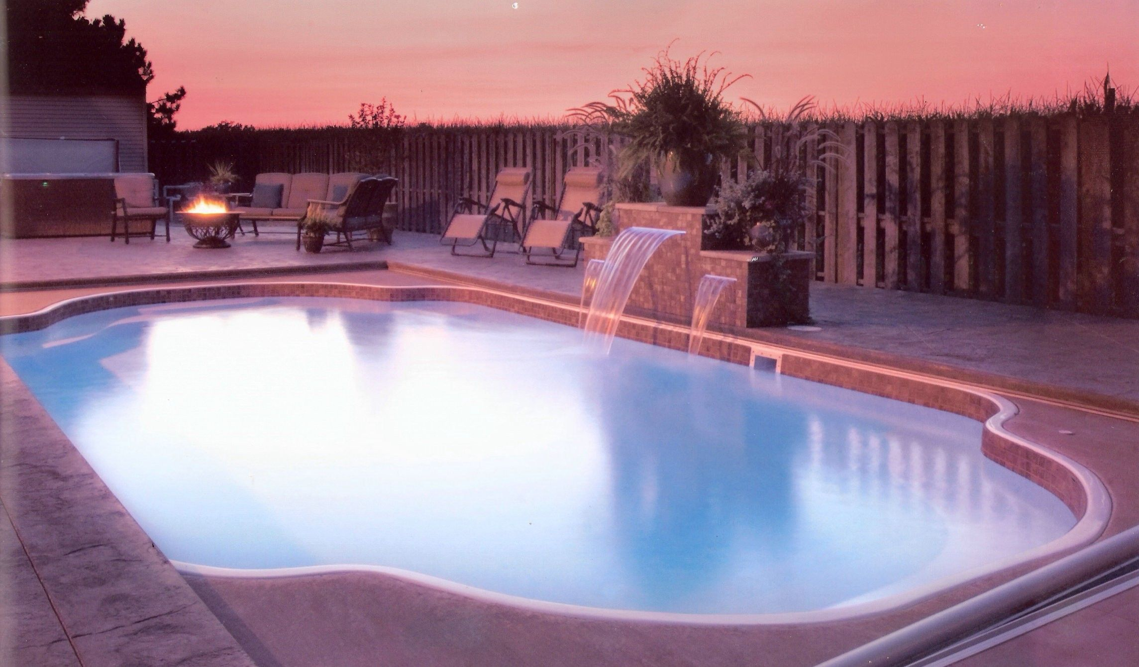 Swimming Pool Private Swimming Pool Decor Ideas With Fiberglass Pool