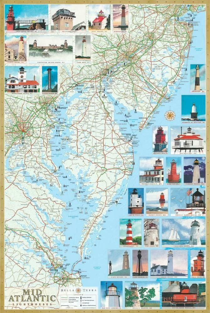 Mid-Atlantic Lighthouses Map. The illustrated map and guide ... on massachusetts lighthouse map, georgia lighthouse map, bay of fundy lighthouse map, michigan lighthouse map, nc lighthouse map, washington lighthouse map, scituate lighthouse map, sullivan's island lighthouse map, mount desert island acadia national park map, canada lighthouse map, martha's vineyard lighthouse map, ontario lighthouse map, maryland lighthouse map, oahu lighthouse map, nova scotia lighthouses map, lighthouse friends map, maine tourist attractions, rhode island lighthouse map, maine coast lighthouses, seattle lighthouse map,