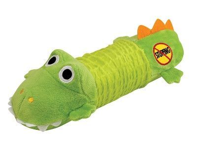 Petstages No Stuffing Plush Big Squeak Gator Dog Toy Best Dog