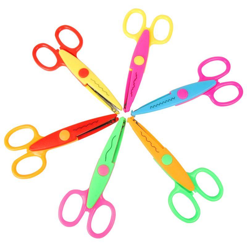 Scissors Reasonable Children Plastic Mini Safety Scissors Handmade Diy Photo Album Laciness Scissors Tesoura Paper Lace Diary Decoration