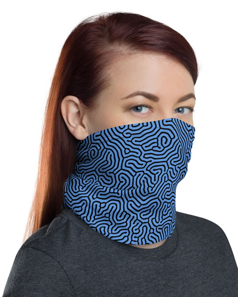 Abstract Colorful Trendy Neck Gaiter Warmer Windproof Mask Balaclava Face Mask Sports Mask For Outdoor Men And Women Free UV Personalized