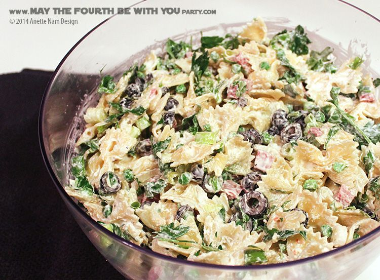 Star Wars Food Tie Fighter Pasta Salad With Bowtie Pasta Check Out Our