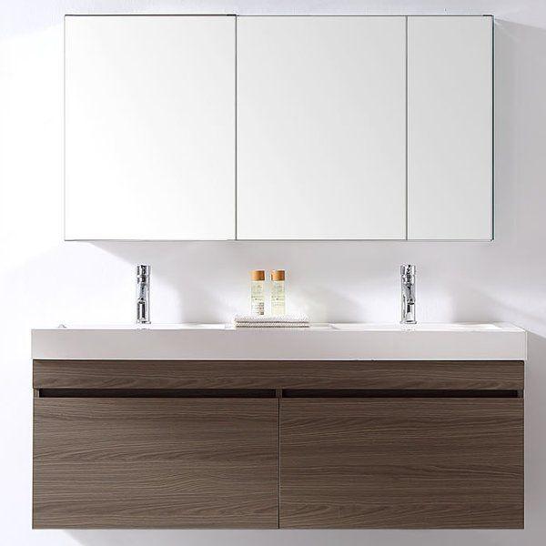 Virtu Usa Zuri 55 Quot Double Bathroom Vanity Set Amp Reviews