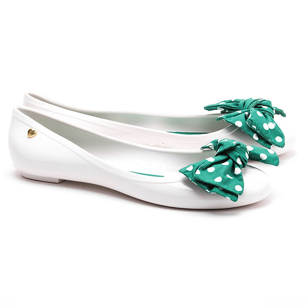 Love Moschino Pois Biale Gumowe Baleriny Damskie Baleriny Buty Kobiety Mivo Lace Slip Shoes Fashion