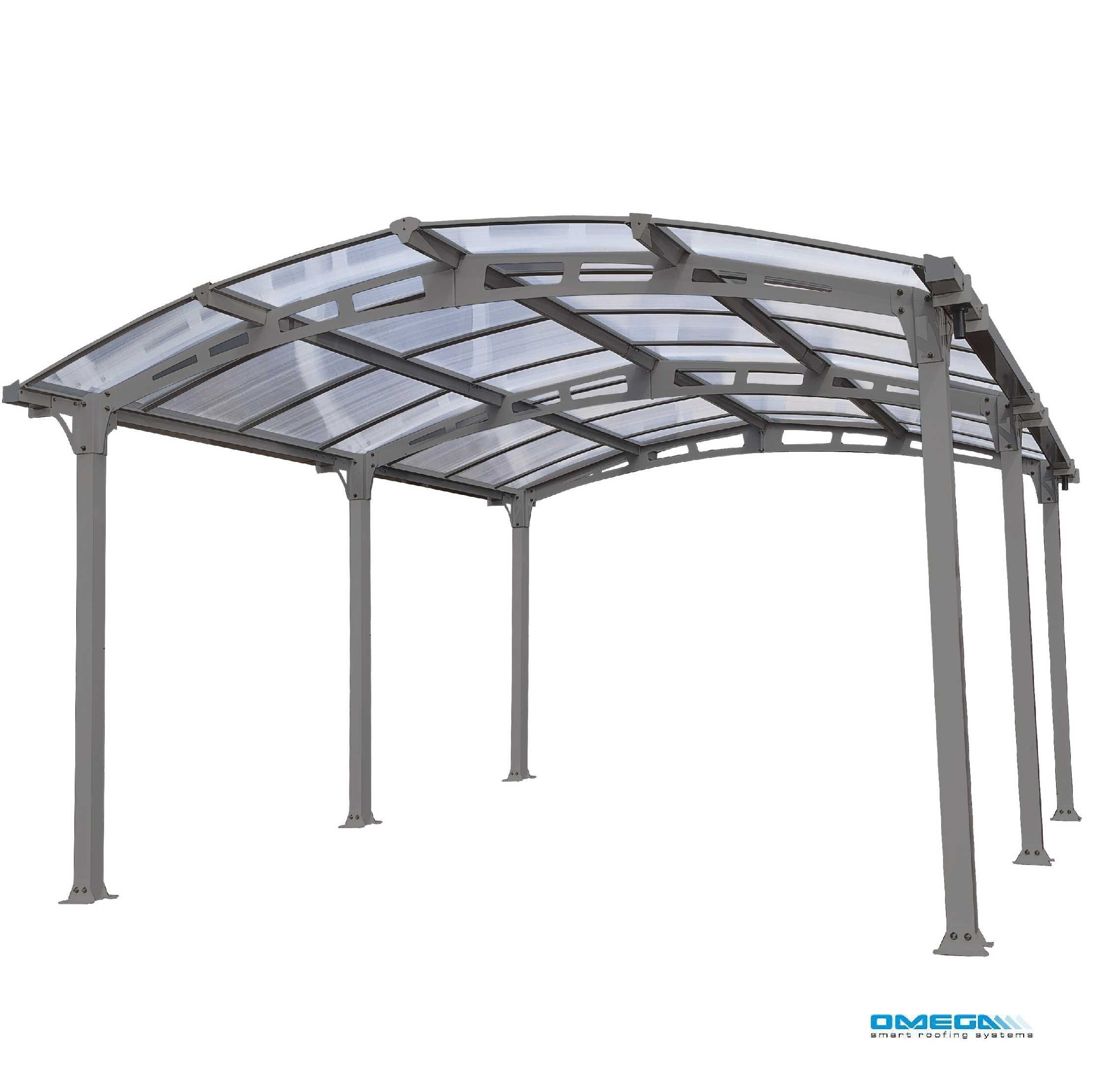 Arcadia 5000 Curved Freestanding canopy 5020 x 3620mm from