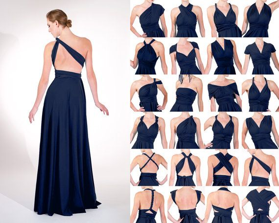 NAVY matte infinity dress various Lengths by toFREEyourSTYLE