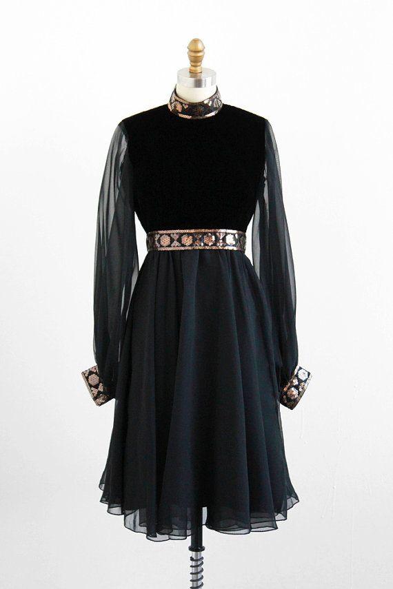 vintage 1960s mod cocktail dress with burnished gold sequins. vintage 1960s  dress   60s dress   Sheer Black ... 46c52811f