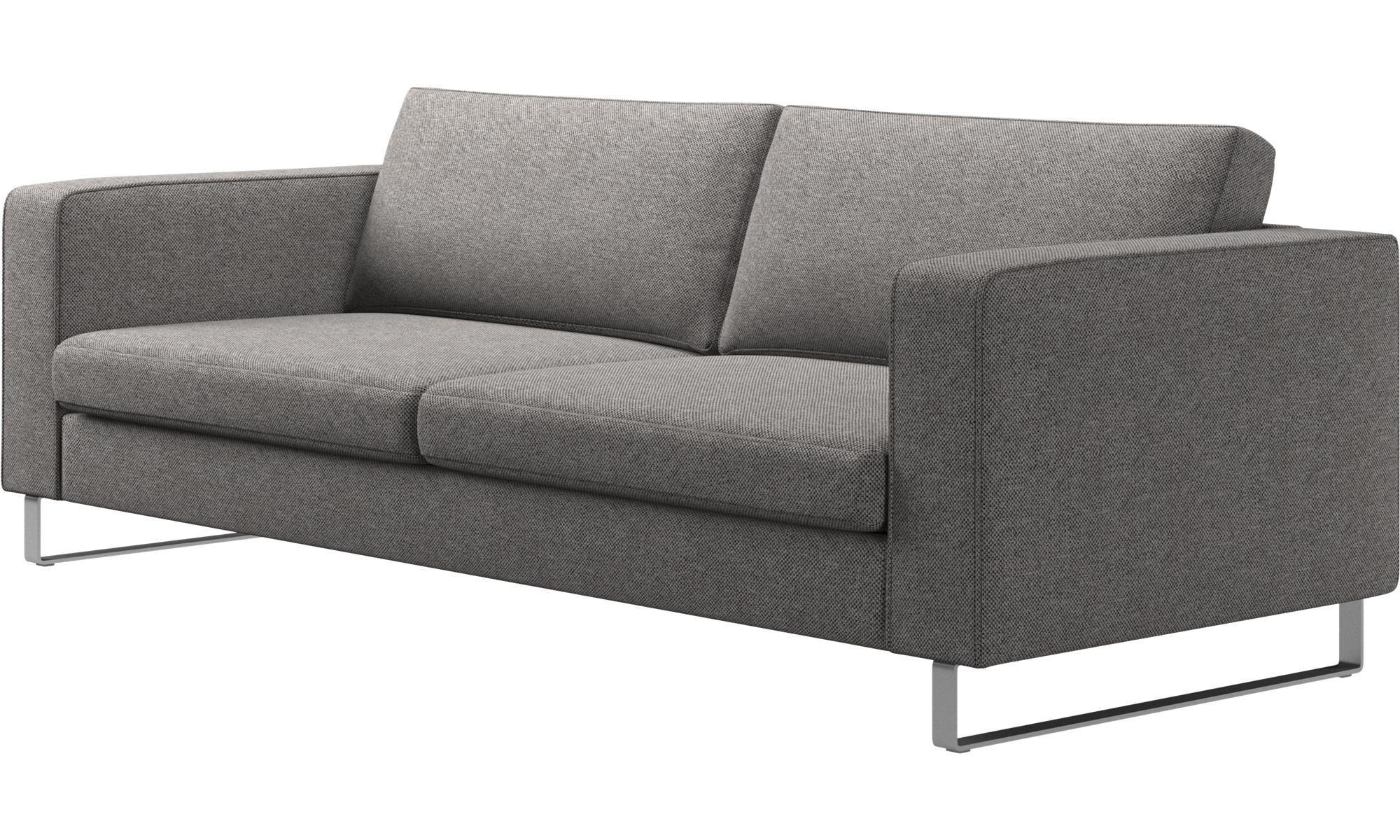 3 Sitzer Sofas   Indivi 2 Sofa   Grau   Stoff
