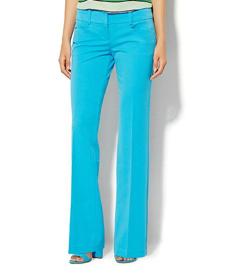 New York & Company Carnegie Blue 7th Ave Signature Bootcut Pants | zulily