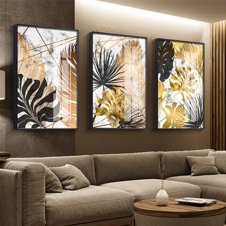 Nordic Plants Golden Leaf Canvas Painting Posters And Print Etsy In 2020 Wall Art Painting Wall Art Pictures Wall Canvas #wall #art #paintings #for #living #room