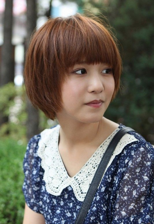 Cute Short Korean Bob Hairstyle Asian Hairstyles Asian