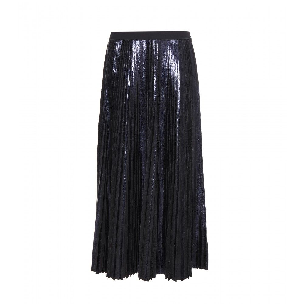 Proenza Schouler - Pleated skirt - A long skirt is a flattering option for lazy dressing. Proenza Schouler gives us a dazzling version with metallic pleats that'll work with every hue under the sun. Let it make an impact with the simplest of T-shirts, finishing off with strappy sandals and a clutch. seen @ www.mytheresa.com
