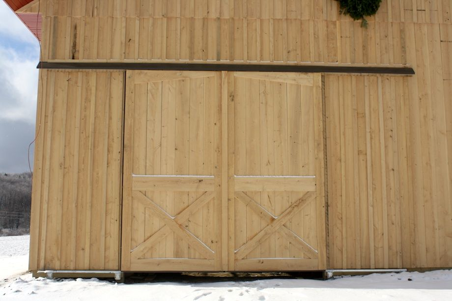 how to build exterior insulated barn door - Google Search | shop ...