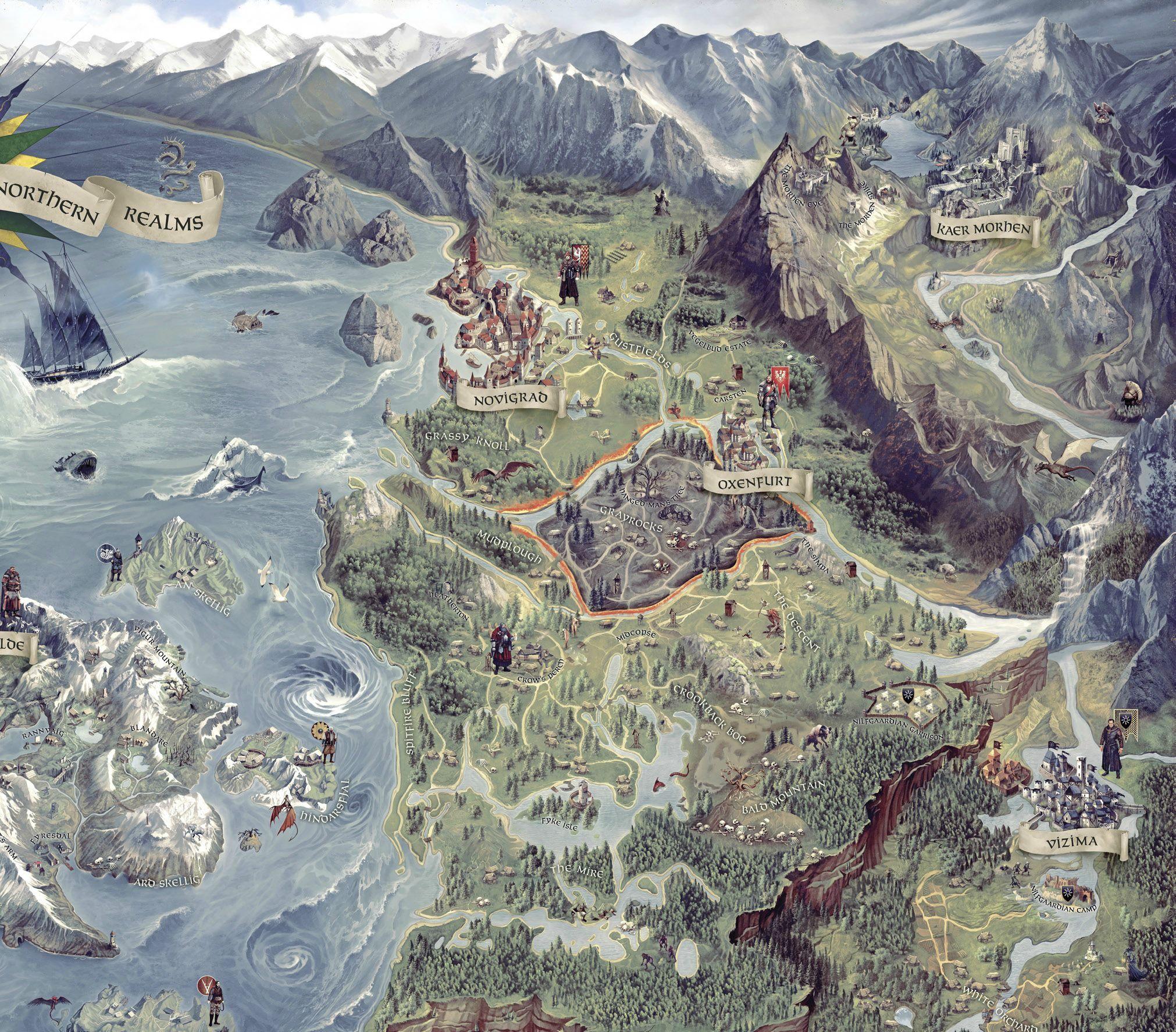 The Witcher 3 Mapa.Mapa Z Wiedzmina 3 Juz Prawie Znana Fantasy World Map