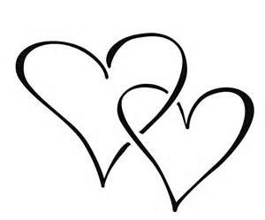 Two Hearts Love Heart Drawing Heart Clip Art Small Heart Tattoos