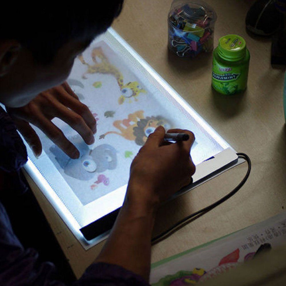 Favolcano A4 Ultra Thin Portable Usb Power Led Light Pad Tracing Board Light Box For Drawing Painting Artists Sketching Animation Active Area 12 24 X 9 37 I Drawing Accessories Drawing Supplies Drawing Tablet