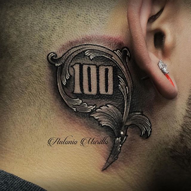 d98c4e77febf5 100 Bill Tattoo Dollar bill 100 on instagram | sleeve tattoos ...