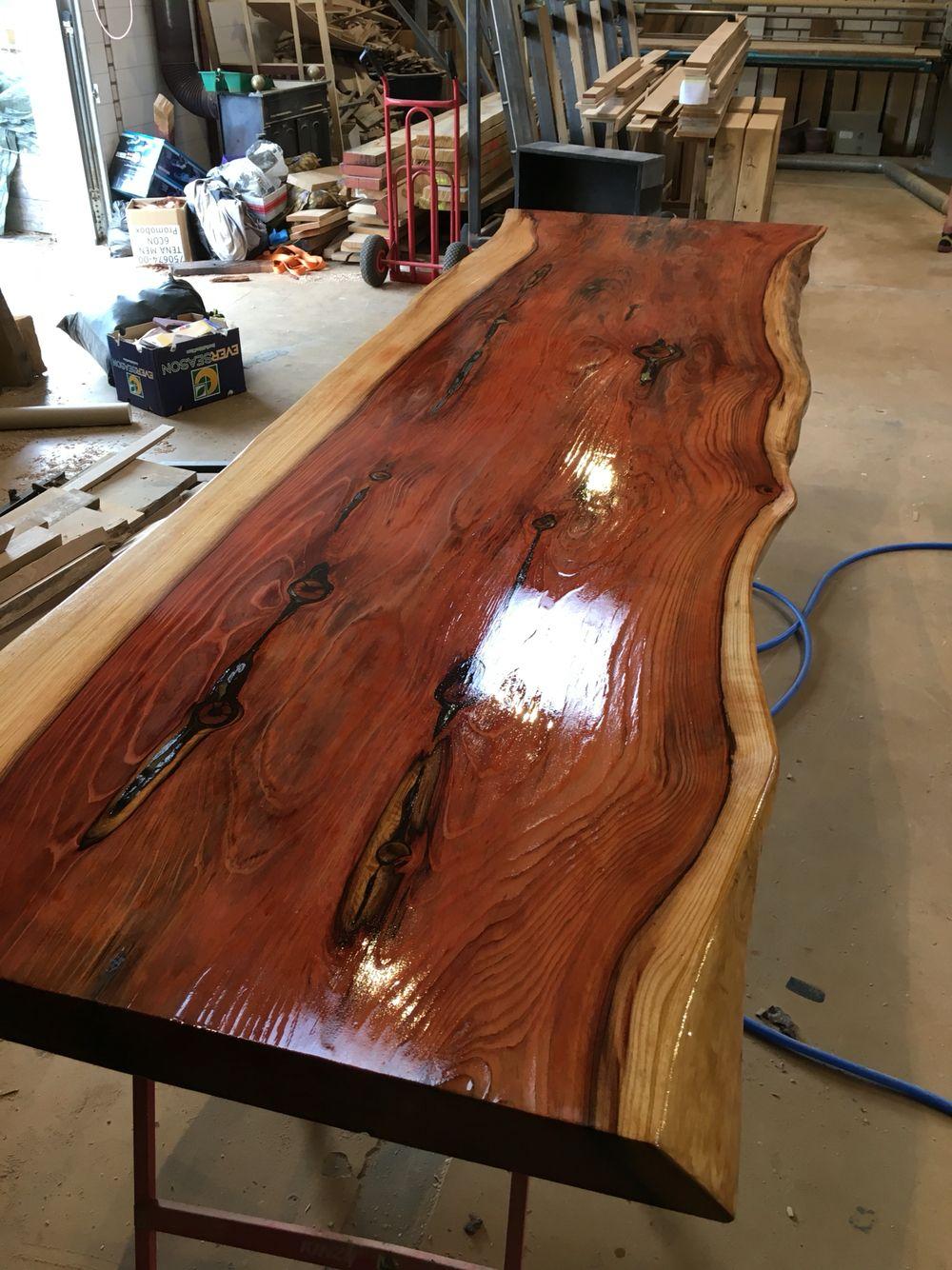 Uniek In Nederland Rode Sequoia Tafels Van 300 X 90 Cm Uit Een  # Muebles Sequoia