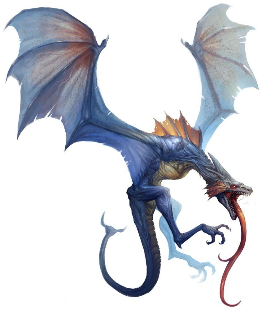 How to breed heraldic dragon - Blue_body Damie_m Dragon Fangs Feral Long_tongue Male Monster Open_mouth Plain_background Roaring Scalie Solo Tongue White_background Wings Wyvern