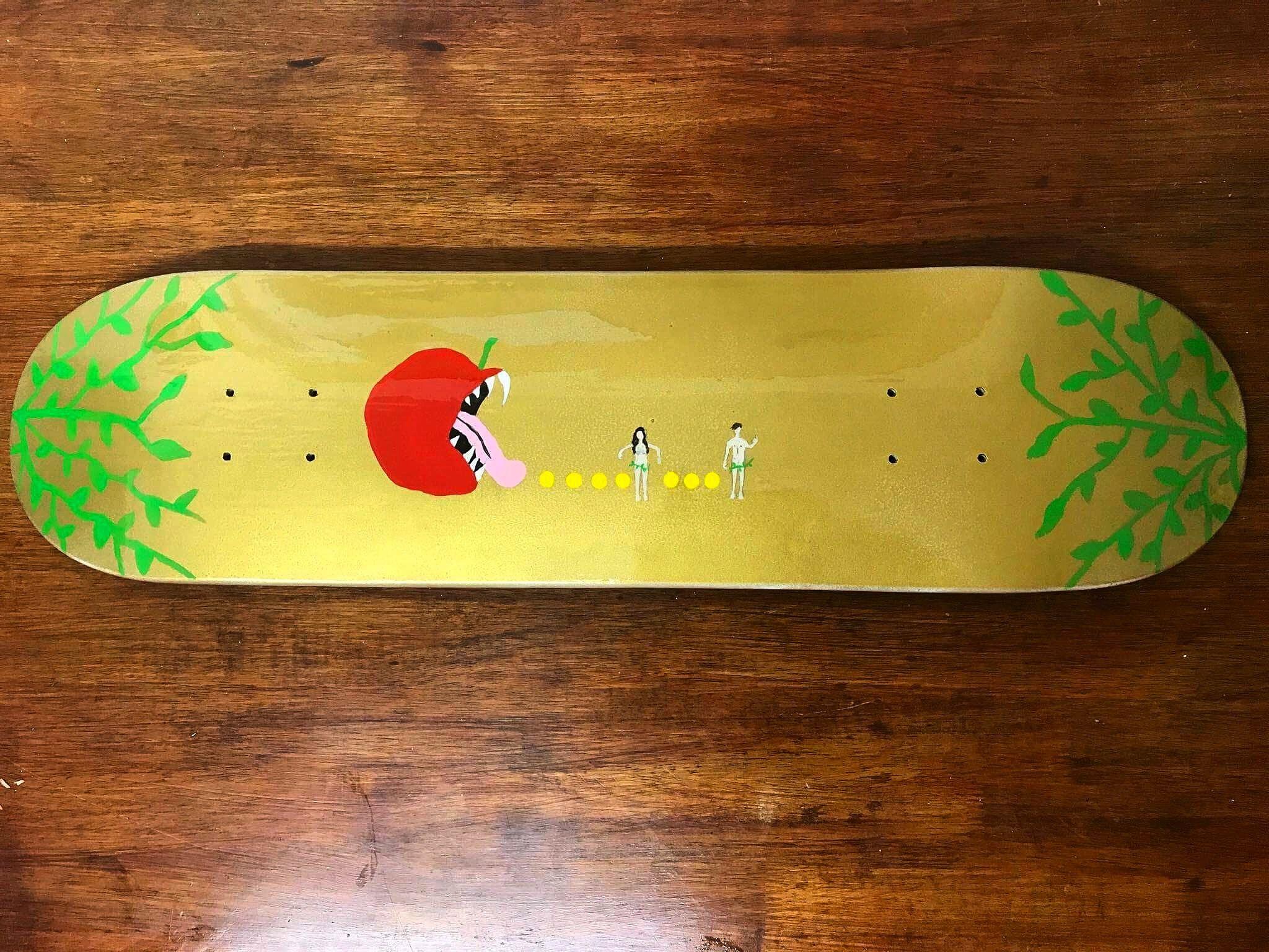 Adam and Eve, the forbidden Apple skateboard Dec, Molly Shortman ...
